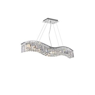 Kasha 7-Light Crystal Chandelier by Everly Quinn
