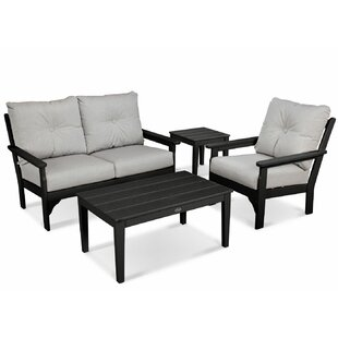 Vineyard 4 Piece Sunbrella Sofa Set with Cushions