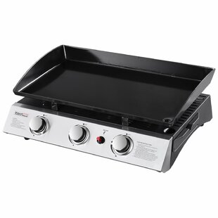 Portable Propane Griddle Grill With Triple Burner Stove