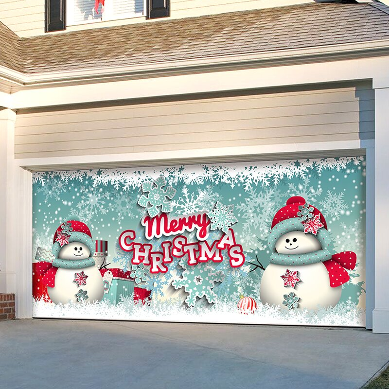 Soonhua 16 Pcs Snowman Wall Decor Garage Door Decorations Snowman Banner Cover Outdoor For Christmas Holiday Garage Door Decorations Outdoor Decor Ekoios Vn