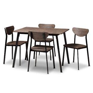 Tejeda 5 Piece Dining Set by Union Rustic