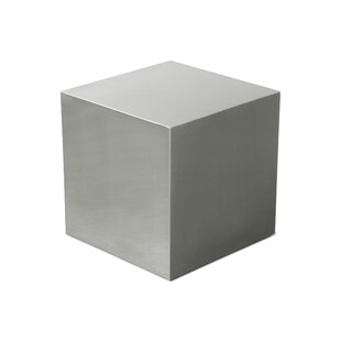 Gus* Modern Stainless Steel Cube End Table