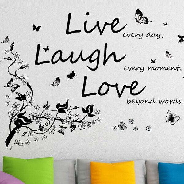 Live Laugh Love Creative Butterfly Living Room Bedroom Decor Wall Sticker Art Decor Decals Stickers Vinyl Art Children S Bedroom Girl Decor Decals Stickers Vinyl Art