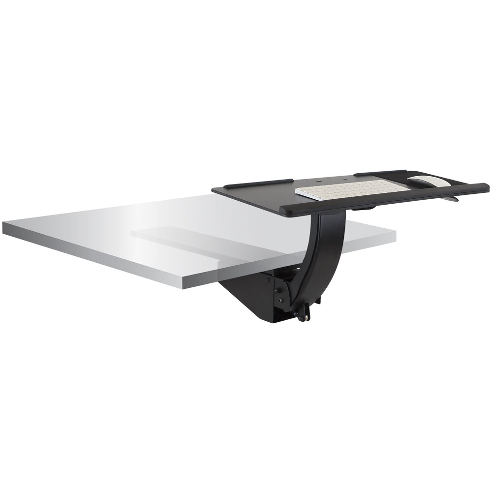 Symple Stuff Bingen Sit Stand 13 4 H X 26 W Desk Keyboard Tray Wayfair