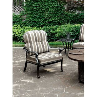 Donegan Patio Chair With Cushion (Set Of 2) by Red Barrel Studio 2019 Sale