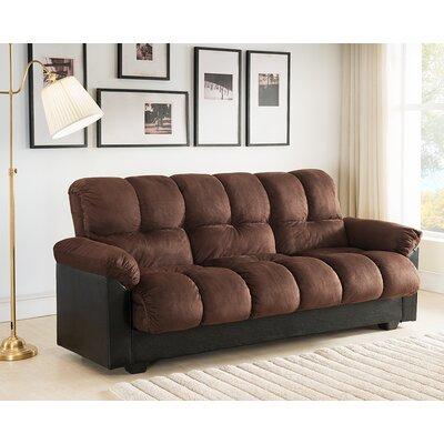 """Capri Full 83"""" Convertible Sofa Latitude Run Fabric: Brown"""