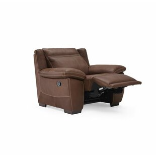 Natuzzi Editions Sandro Leather Power Wall Hugger Recliner