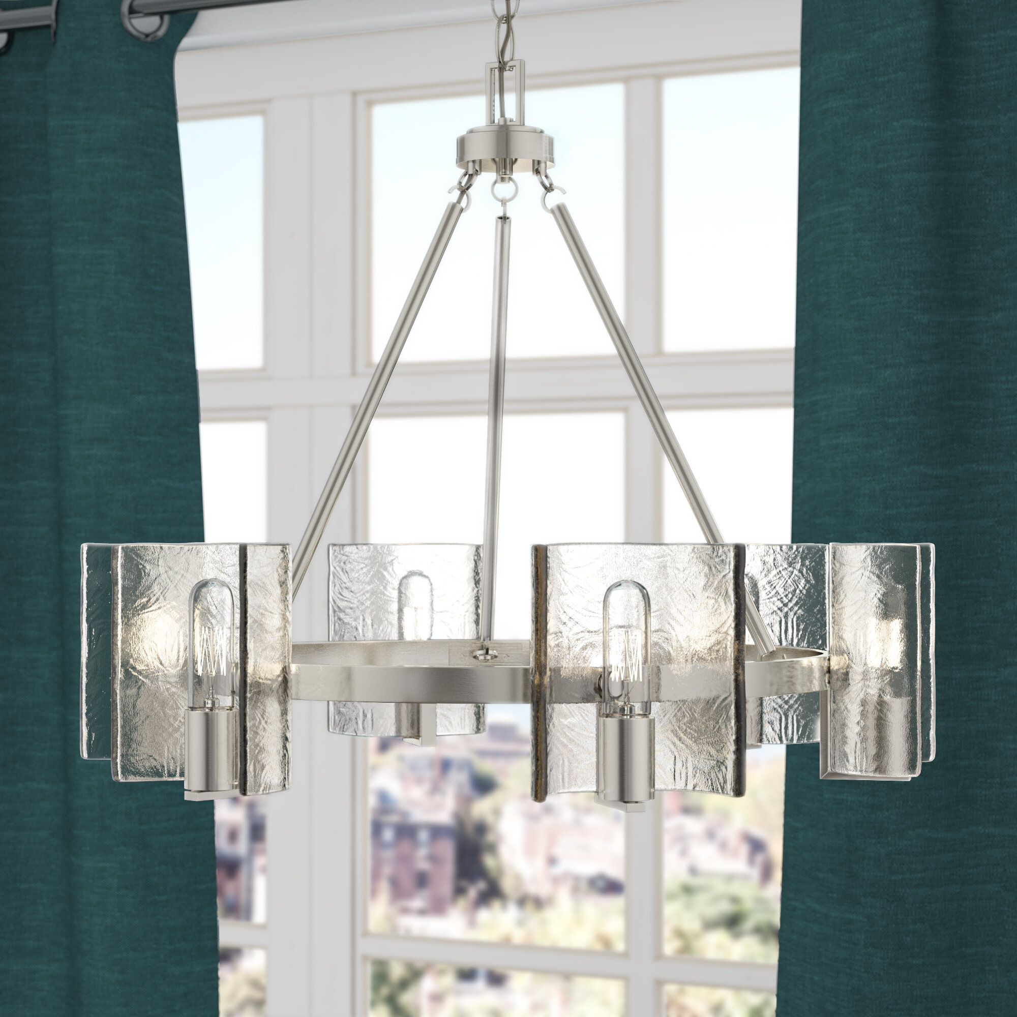 Latitude run rodrigues 6 light shaded chandelier reviews wayfair