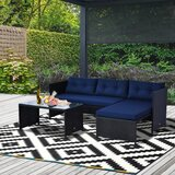 3 Piece Sectional Seating Group with Cushions by Outsunny