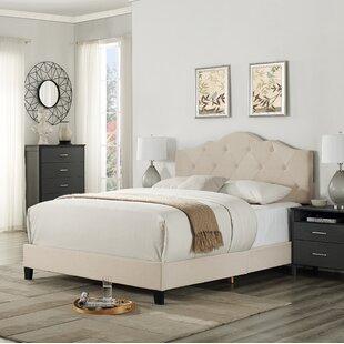 Charlton Home Cassandra Upholstered Panel Bed