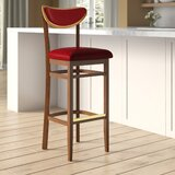 Beechwood Moon Shape Back Upholstered Seat Bar & Counter Stool by Regal