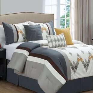 Gent Embroideried 7 Piece Comforter Set by Ivy Bronx