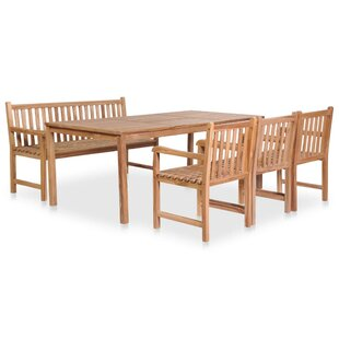 Shane Dining Set With 3 Chairs And One Bench By Gracie Oaks
