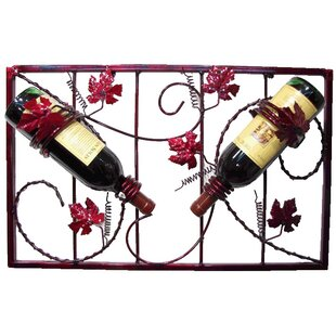 French Vineyard 2 Bottle Wall Mounted Win..