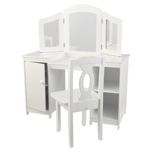Deluxe 2 Piece Vanity Set with Mirror by KidKraft