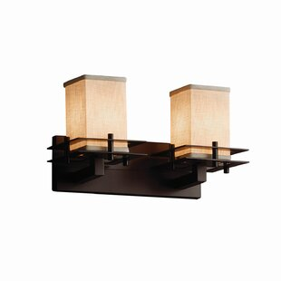 Latitude Run Red Hook Modern 2 Light 60W Square w/ Flat Rim Vanity Light