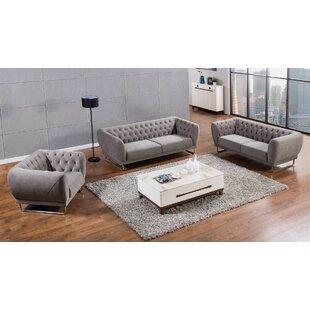 Orren Ellis Glantz 3 Piece Living Room Set