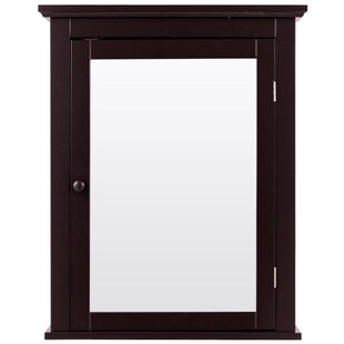 Amyma Surface Mount Framed 1 Door Medicine Cabinet with 1 Adjustable Shelf