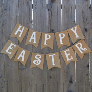 Happy Easter Banner By Rustic Chic Boutique