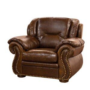 Wyatt Top Grain Leather Club Chair by Fornir..