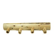 Traditional Cedar Log Coat Rack with Pegs by Fireside Lodge
