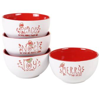 The Holiday Aisle Very Merry Dip Bowl And Spoon Set Wayfair