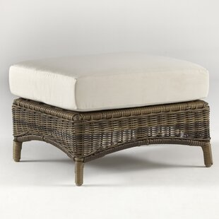 South Sea Rattan Provence Ottoman with Cu..