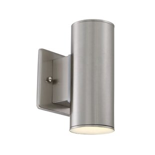 Clearance Cayuta 1-Light LED Outdoor Sconce By Latitude Run