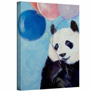 14x14 Art Wall Michael Creese Panda Stars Gallery Wrapped Canvas