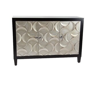 Fenderson Modern Wood 3 Door Accent Cabinet by Orren Ellis