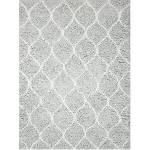 Kosmas Hand-Tufted Gray Area Rug