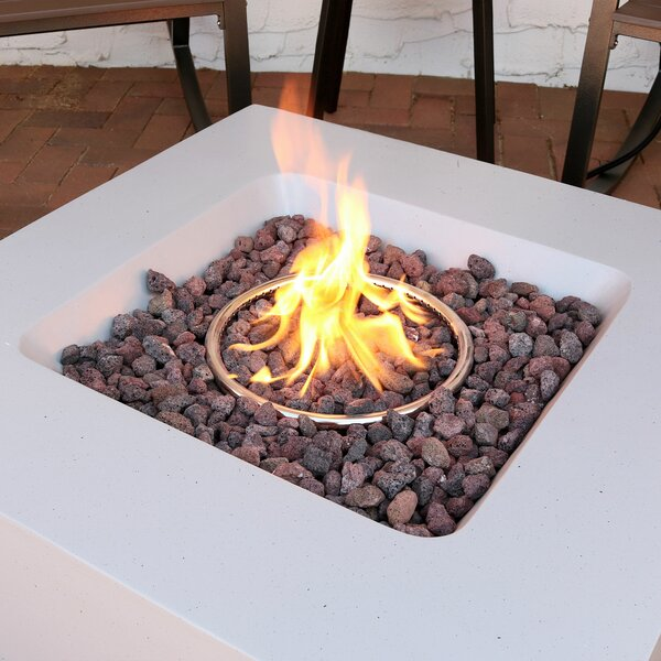 Orren Ellis Mateus Outdoor Concrete Propane Gas Fire Pit & Reviews | Wayfair