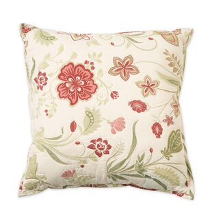 Jacobean Vine Cotton Throw Pillow