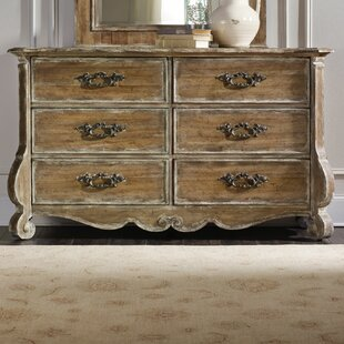 Chatelet 6 Drawer Double Dresser with Mirror