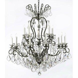 Astoria Grand Alvan 16-Light Candle Style Chandelier