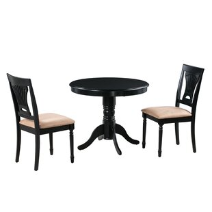 Chesterton 3 Piece Drop Leaf Solid Wood Dining Set Amazing