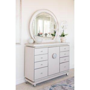 Glimmering Heights 8 Drawer Dresser wi..