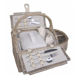2 Person Boat Fitted Picnic Basket By Brambly Cottage