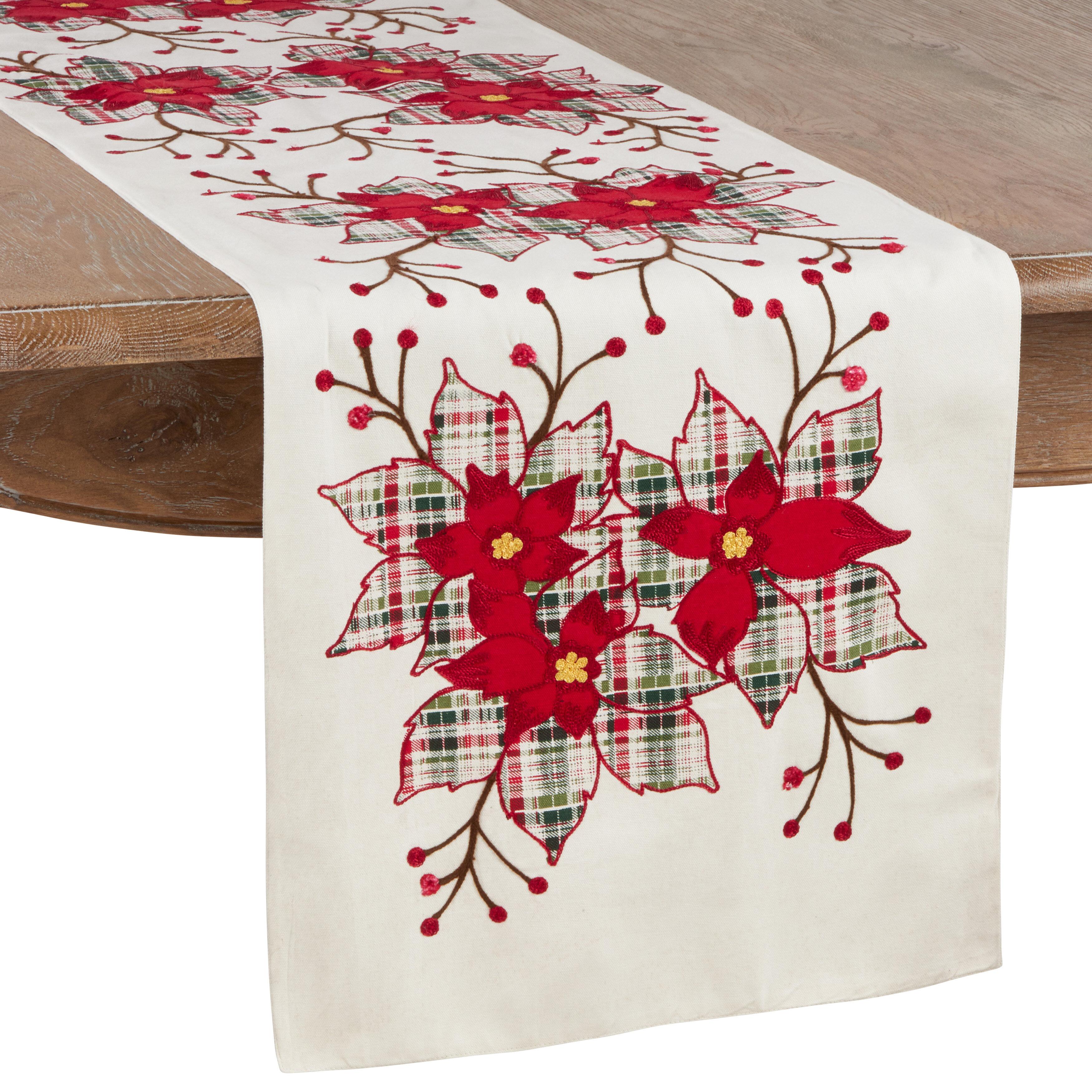 The Holiday Aisle Jarboe Cotton Table Runner Wayfair