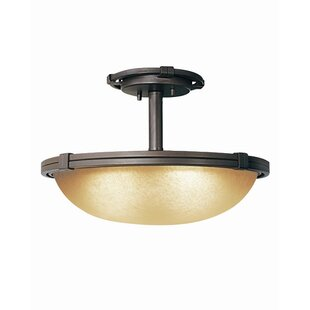Wayman 2-Light Semi-Flush Mount by Woodbridge Lighting