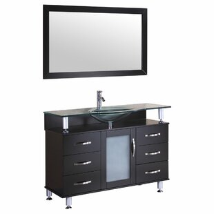 Price comparison 47 Single Bathroom Vanity Set with Mirror By LessCare