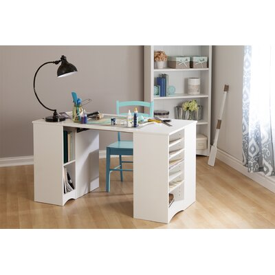 Beau South Shore Artwork Craft Table With Storage