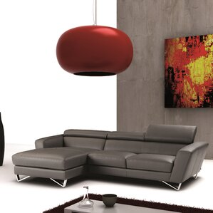 Downingtown Leather Reclining Sectional by Wade Logan