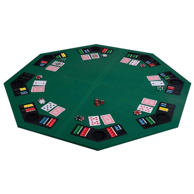 Ovve 48 8 Player Poker Table Wayfair