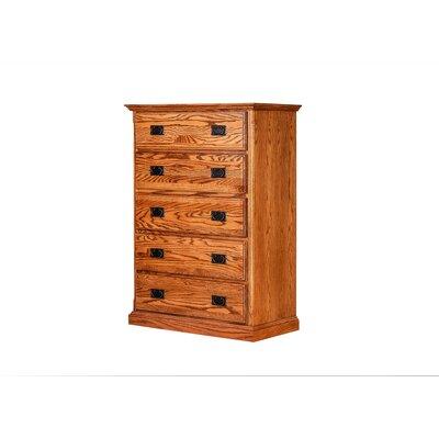 Incredible Bilodeau 5 Drawer Dresser Loon Peak Color Golden Oak Creativecarmelina Interior Chair Design Creativecarmelinacom