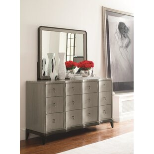 Bonifácio 9 Drawer Double Dresser with Mirror