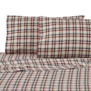 Sawyer Plaid 100% Cotton Pillowcase