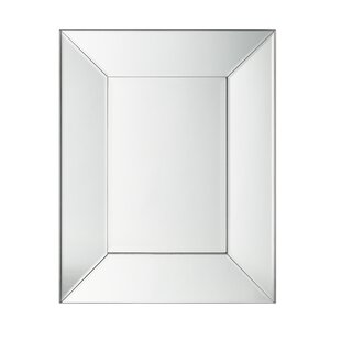 Compare prices Castaldo All Glass Wall Mirror By House of Hampton