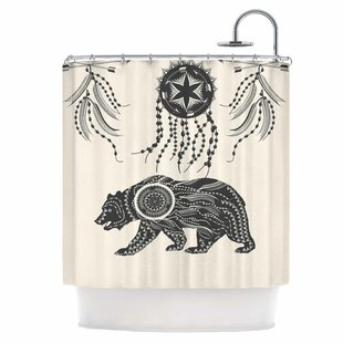 Ornate Bear Single Shower Curtain