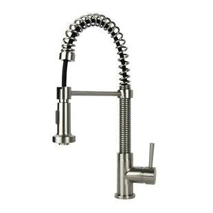 Fontaine by Italia Spring Coil Pull Down Single Handle Kitchen Faucet
